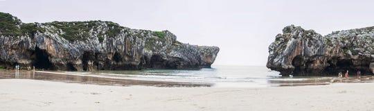 Beach at Cantabric Sea, Spain Stock Photos