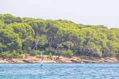 Beach Cap de Formentor, Mallorca, Spain. Beautiful Beach on Cap de Formentor with transparent water, Mallorca, Spain Stock Image