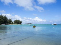 Beach at Cap Malheureux, Mauritius stock image