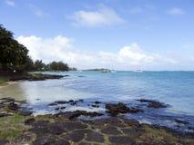 Beach at Cap Malheureux, Mauritius royalty free stock image