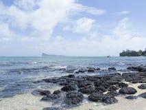Beach at Cap Malheureux, Mauritius stock photos