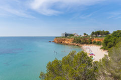 The beach Cap Roig near L`Ampolla, Catalonia, Spain Stock Images