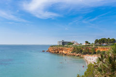 The beach Cap Roig near L`Ampolla, Catalonia, Spain Stock Photo