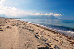 Beach of capaci Royalty Free Stock Photos