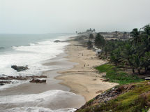 Beach in Cape Coast Royalty Free Stock Images