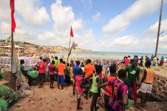 Beach, Cape Coast, Ghana Royalty Free Stock Photo