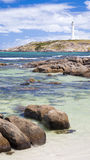 Beach at Cape Leeuwin. With the lighthouse in the distance, Augusta Western Australia wa royalty free stock photography