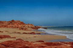 A beach at Cape Leveque. Stunning colours of a Cape Leveque beach Royalty Free Stock Images