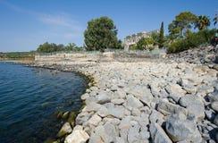 Beach of Capernaum Stock Photo