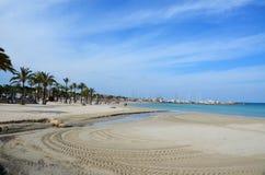 Beach in Capitol of Majorca Stock Image