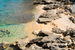 Beach in Capo Testa Stock Image