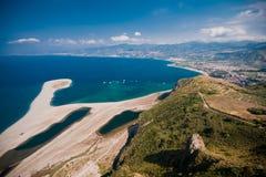 Beach at Capo Tindari, Sicily. A beach at Capo Tindari, Sicily royalty free stock photography