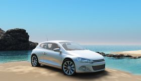 Beach car 2 Royalty Free Stock Image