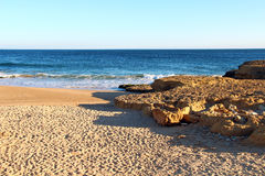 Beach in Carcavelos, Portugal Stock Photo