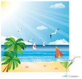 Beach card,  Stock Photos