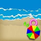 Beach cardboard  Stock Image