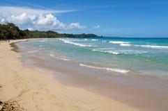 Beach in the Caribbean coast of Panama royalty free stock image