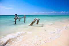 Beach at Caribbean sea Royalty Free Stock Image