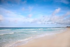 Beach at Caribbean sea Stock Photos