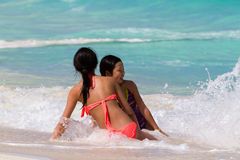 Beach of the Caribbean Sea Stock Photos
