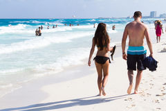 Beach of the Caribbean Sea Royalty Free Stock Photo