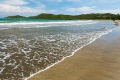 Beach on Caribbean Sea. Gold sand beach on Caribbean Sea, tropical resort in Manzanillo de Cuba Stock Photos