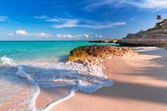 Beach at Caribbean sea in Mexico Stock Photos