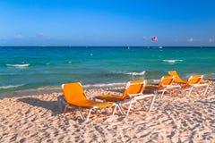 Beach at Caribbean sea in Mexico Royalty Free Stock Photo