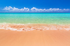 Beach at Caribbean sea in  Mexico Stock Photo