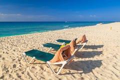 Beach at Caribbean sea. In Playa del Carmen, Mexico Stock Photography