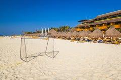 Beach at Caribbean sea. In Playa del Carmen, Mexico Royalty Free Stock Images