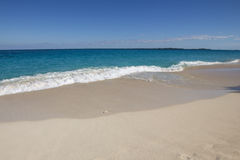 Beach in Caribbean Sea. Stock Photo