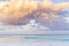 Beach of the Caribbean Sea Stock Photo