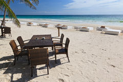 On the beach of Caribe near to Tulum, Mexico.  royalty free stock photography