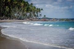 Beach of Carneiros, Tamandar�-Pernambuco. Tamandar� is a coastal municipality located roughly 103 km (64 mi) south of Recife, the capital city of the Stock Photos