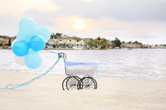 Beach carriage Stock Images