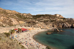 Beach in Cartagena, Spain Royalty Free Stock Photos