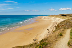 Beach at carteret. The beach at Carteret, Normandy, France Stock Photography