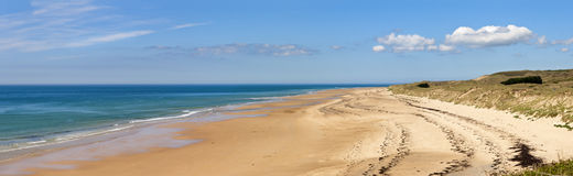 The beach at carteret,  normandy, france. Panorama of the The beach at carteret,  normandy, france Stock Images