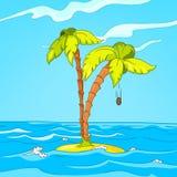 Beach Cartoon Royalty Free Stock Photo