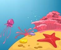 Beach Cartoon Stock Image
