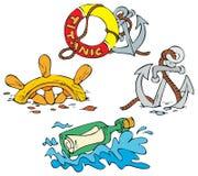 Beach cartoons Royalty Free Stock Photo