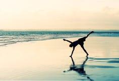 Beach Cartwheel stock images