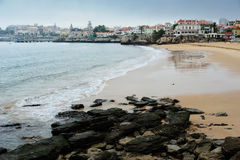 The beach at Cascais, Portugal Royalty Free Stock Images