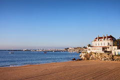 Beach in Cascais at Sunrise Royalty Free Stock Images