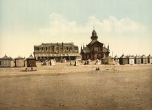 Beach and casino, Calais, France Royalty Free Stock Image