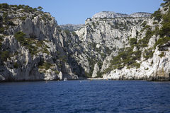 Beach in the Cassis Calanques Royalty Free Stock Photography