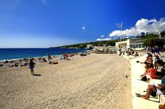 On the beach in Cassis Royalty Free Stock Photo