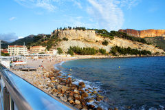 Beach in Cassis Royalty Free Stock Images