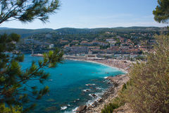 Beach of Cassis. View on a beach of Cassis in France Royalty Free Stock Photos